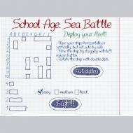 Игра онлайн Школьный морской бой