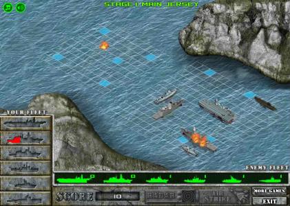 Игра онлайн Battleship war