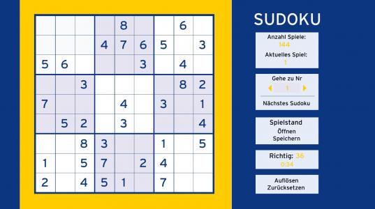 Игра онлайн Deutsche sudoku