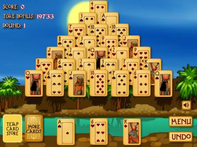 Игра онлайн Египетский пасьянс
