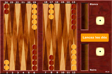 Игра онлайн French backgammon