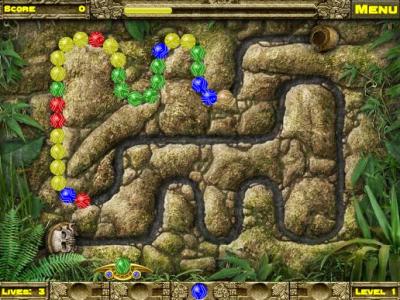 Игра онлайн Inca Ball