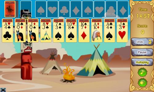 Игра онлайн Индейский пасьянс