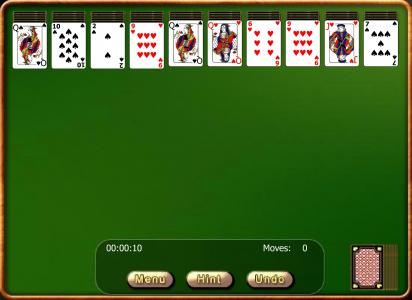 Игра онлайн Простой пасьянс