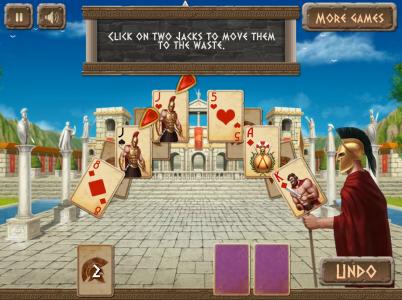 Игра онлайн Спартанский пасьянс
