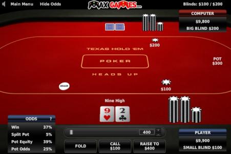 Игра онлайн Техасский покер