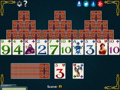 Игра онлайн Три пирамиды