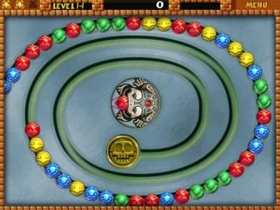 Игра онлайн Zuma Delux