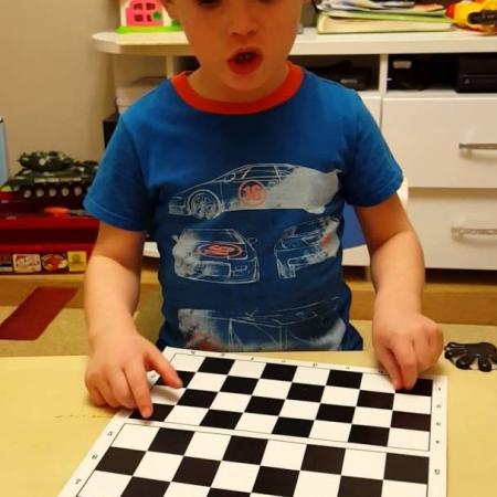 Шахматы для детей - Ставим поле