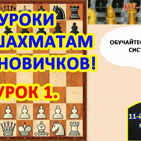 Обучение шахматам начинающих по системе Фишера - Урок 1