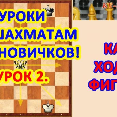 Обучение шахматам начинающих. Урок 2 - Как ходят фигуры.