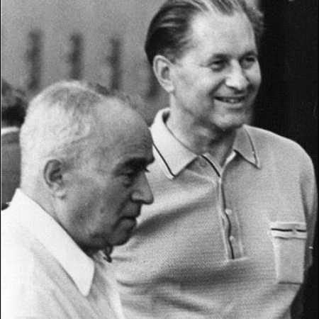 Пауль Керес и Сало Флор (его столетие - 21 октября), Ленинград, 1973 год