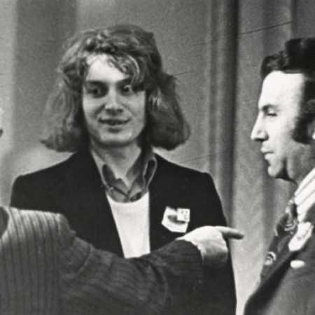 С Я.Тимманом (спина А.А.Котова), Ленинград, 1973 год
